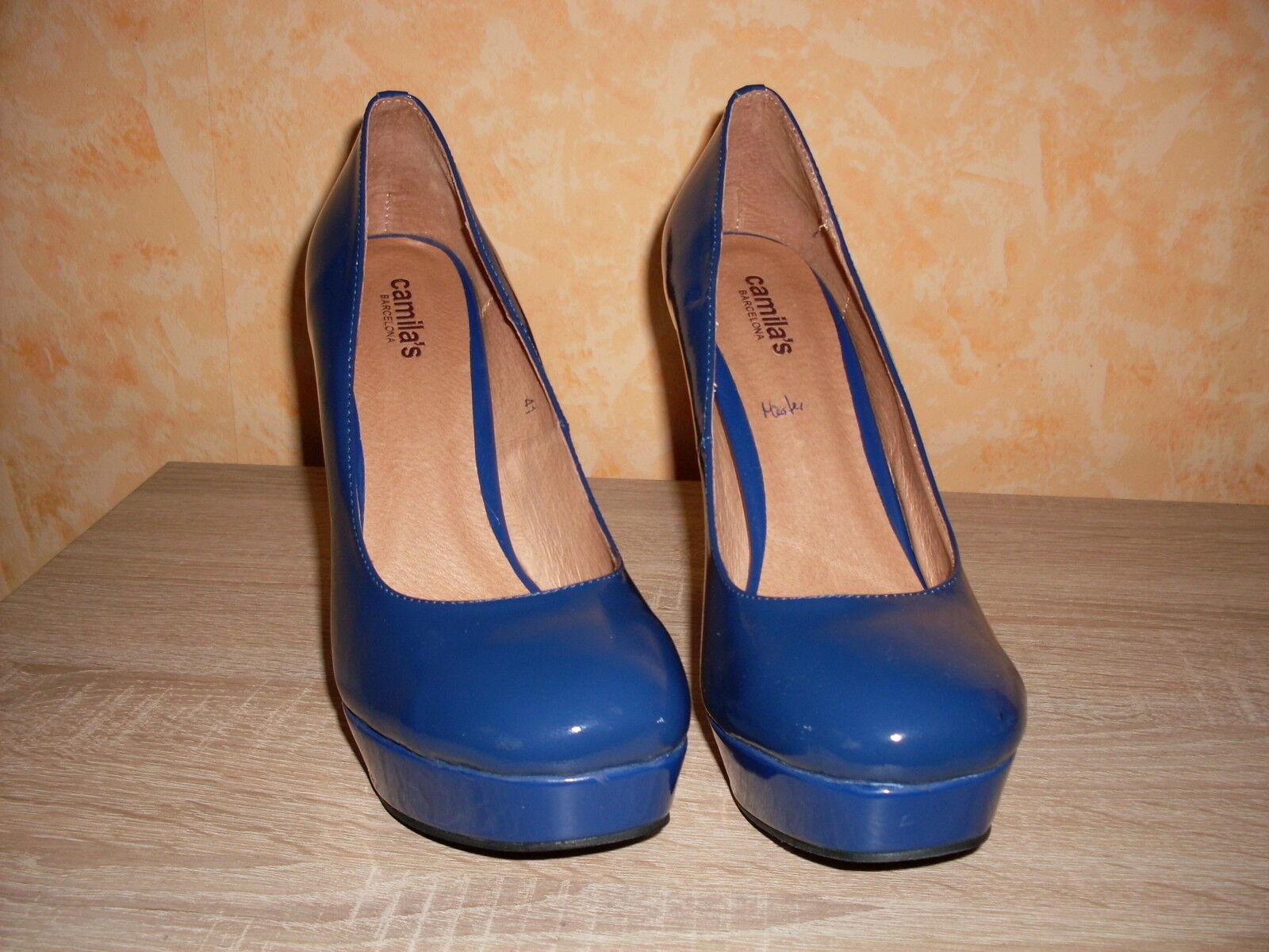 dcae343a98c028 ... Designer Plateforme Escarpins neuf T. 40 IN Royal Bleu Bleu Bleu &  cuirs nécessaireHommes t ...