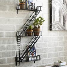Design Ideas Fire Escape Book Shelf Hand-Welded Steel Urban Style