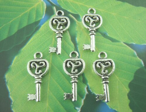 10 Colgante De Clave De Plata Tibetana Dijes 21mm IOM