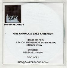 (HB915) Anil Chawla & Dale Anderson, Make Me Feel - 2006 DJ CD