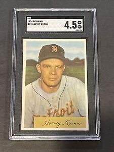 1954 Bowman #23 Harvey Kuenn SGC 4.5 New Label Graded
