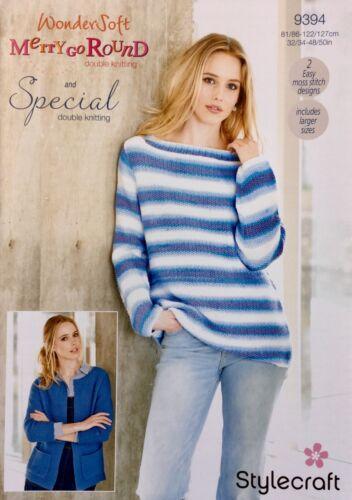 Stylecraft 9394 Knitting Pattern Jacket /& Sweater