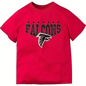 wholesale dealer 99eef 1b4df Details about ATLANTA FALCONS 2-TODDLER 2T RED POLYESTER TEE-SHIRT WITH  LOGO AND TEAM NICKNAME