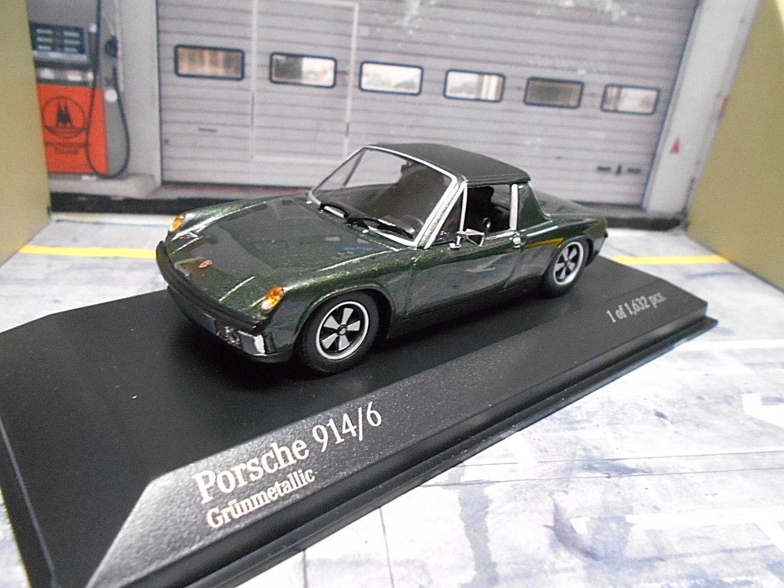 VW Porsche 914 4 914 4 TARGA  vert vert Met 1970 Rare Minichamps 1 43  le plus en vogue