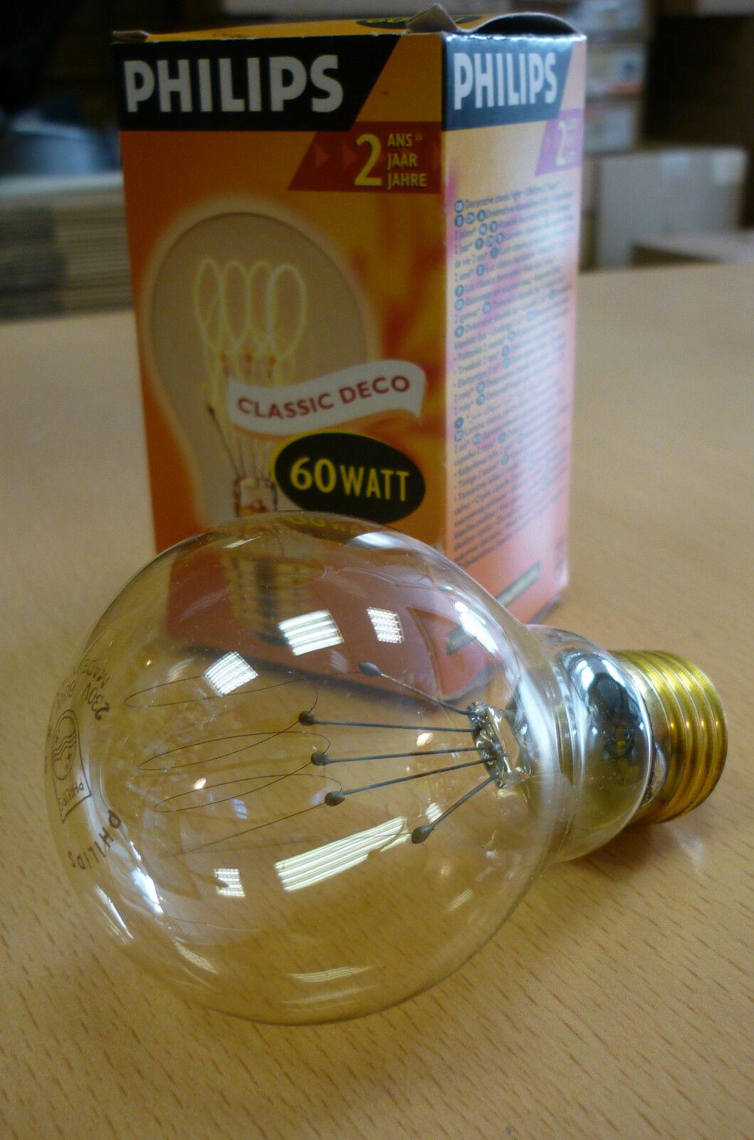 PHILIPS Kohlefadenlampe E27 60W CLASSIC DECO Glühlampe Kohlefaden Carbonlamp