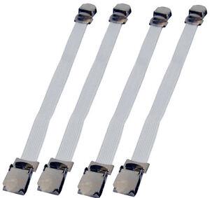 4-lit-en-metal-chrome-feuille-fasteners-clip-Pinces-matelas-forte-facile-titulaire