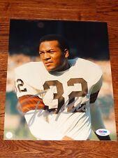 PSA/DNA Jim Brown Auto Autographed Signed Browns Color 8x10 Photo HOF GOAT