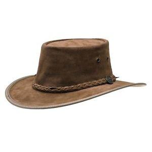Barmah Lampe/squashy Hickory En Daim Cuir étanche Australian Bush Hat-afficher Le Titre D'origine