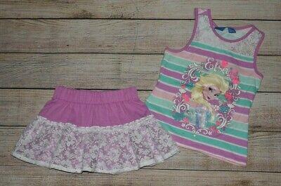 Disney Girl Skirt Minnie Mouse Scooter Shorts Elastic Waist Ruffle 4 5 6 6X