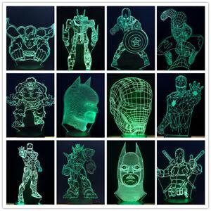 Super-Hero-3D-LED-Touch-Table-Desk-lamp-Night-Light-7-Colorful-Xmas-Gift-kids
