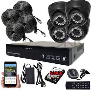 Sikker-Standalone-4Ch-720P-DVR-Recorder-Megapixel-Security-Camera-System-500GB