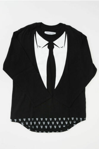 JOHN GALLIANO KIDS boys T-shirts and Tops Printed T-shirt  Black