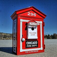 Very Rare - The GREAT CHICAGO FIRE of 1871 Alarm Box #296 REPLICA - First Gear