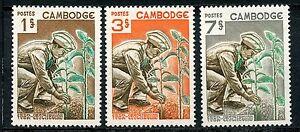 Stamp / Timbre Du Cambodge Neuf N° 175/177 ** Metier Reboisement Vous Garder En Forme Tout Le Temps