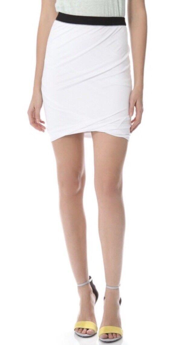 T Alexander Wang White Pique Wrap Knit Pencil Skirt XS Small