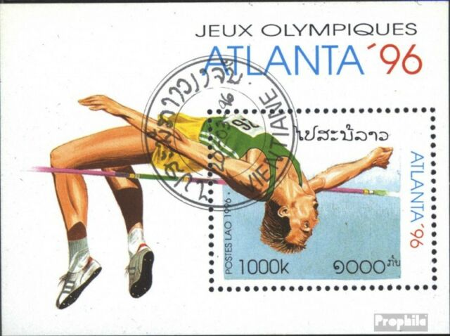Laos Block156 (complete issue) used 1996 olympic. Summer´96, At