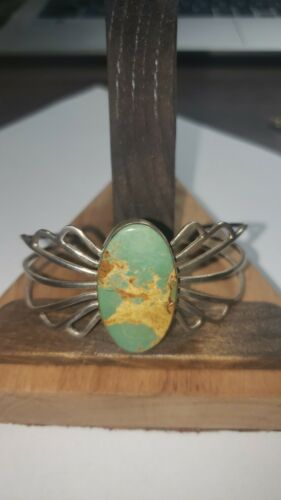 Old Pawn Sterling Turquoise Bracelet