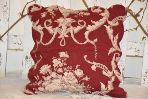 quilt Coussin Housse patchwork 2 tailles COTE table rouge