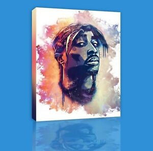 New Legendary Rapper Tupac Canvas Poster 2pac Colorful Wall Art Home Decoration