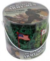 World War Ii Army Soldier Action Figure Bucket, Play Pretend Toys Diorama Kids