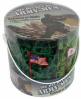 World War Ii Army Soldier Action Figure Bucket, Play Pretend Toys Diorama Kids on sale
