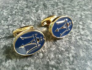 Maserati-cufflinks-24ct-gold-plated-new-quality-gift-uk-seller-gift-bag-24k