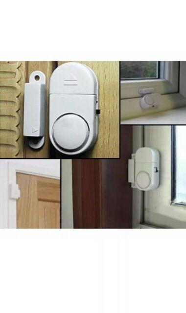 WINDOW & DOOR BURGLAR INTRUDER ALARMS ALARM WIRELESS SENSOR With Batteries