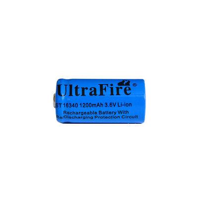 4PCS UltraFire 3.6/3.7V 16340 Rechargeable Li-ion Battery 1200mAh for Flashlight
