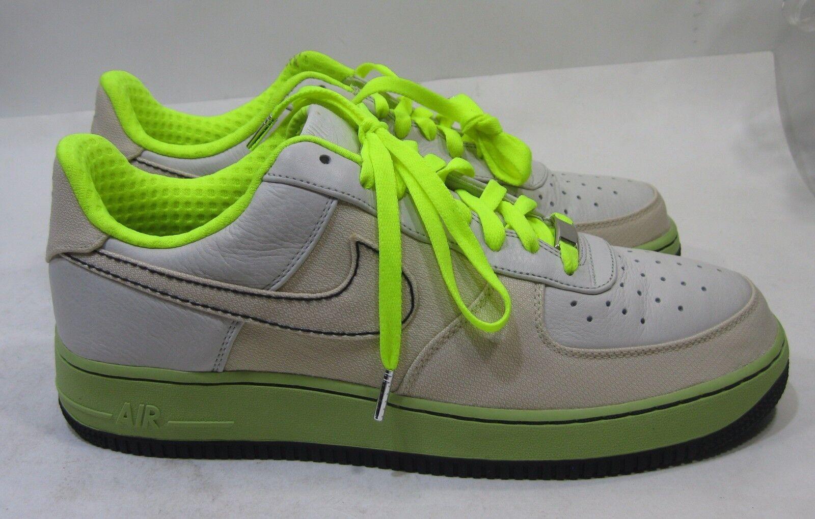 New Nike Air Force premium 07 [315180-002] New Tgoldnto Bone Volt Size 11