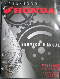 honda vt 1100 c2 shadow 1995 1999 motorcycle service manual original rh ebay com 1999 honda shadow 1100 owners manual pdf 1999 honda shadow 1100 owners manual