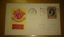 Malacca Melaka Malaya Stamp QE Queen Elizabeth II Coronation 3 June 1953 Cover