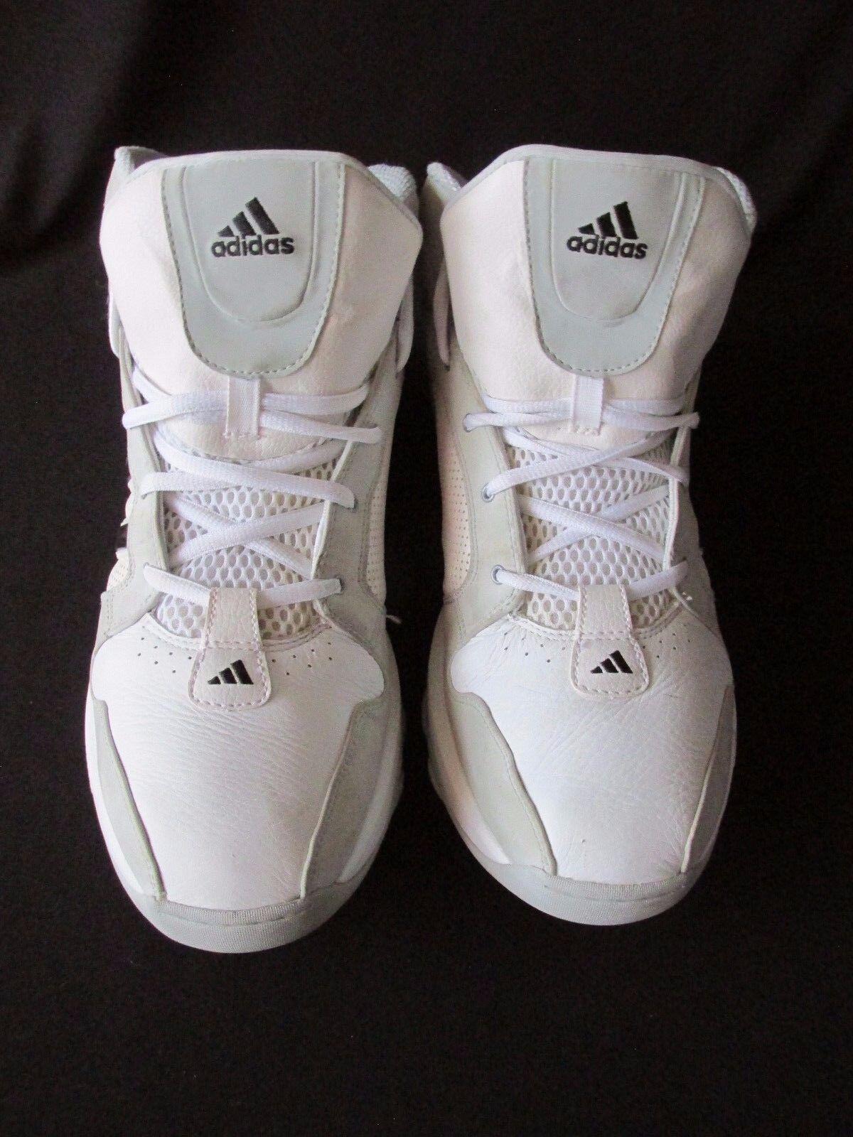 Adidas - jahrzehnt 06 alte schule weiße - graue leder - basketball - weiße schuhe für männer us13m 9e0850