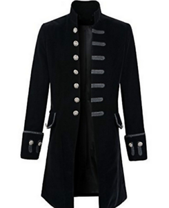 1e48f8b89ab0 Men's Military Jacket Vintage Victorian Gothic Coat Steampunk Frock ...