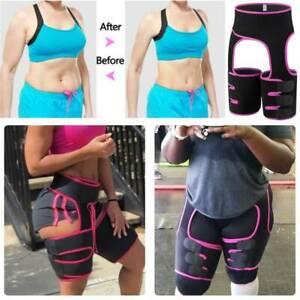 Slim Thigh High Waist Train Trimmer Exercise Wrap Belt 3 in 1 Sauna Body Shaper