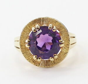 14k-Yellow-Gold-Unique-Amethyst-Stone-Ladies-Ring-6-8g