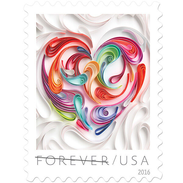 2016 49c Quilled Paper Heart Scott 5036 Mint F/VF NH
