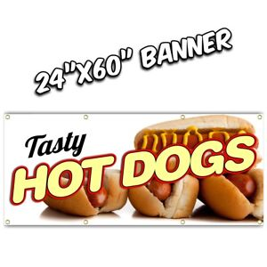 CORN DOGS BANNER deep fried chicken tenders french fries chili dog nachos 20x48