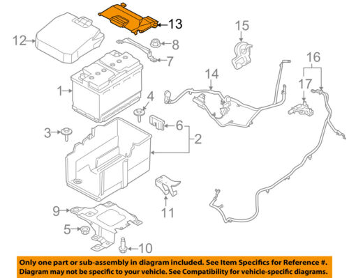 Lincoln FORD OEM 15-18 MKC 2.0L-L4 Battery-Access Cover EJ7Z10A659A