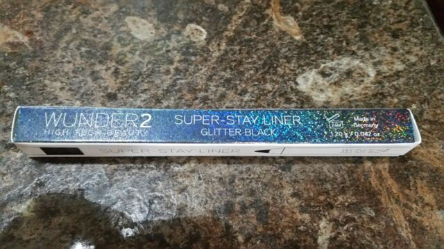 WUNDER2 SUPER-STAY LINER - Long Lasting & Waterproof GLITTER Black Eyeliner  New
