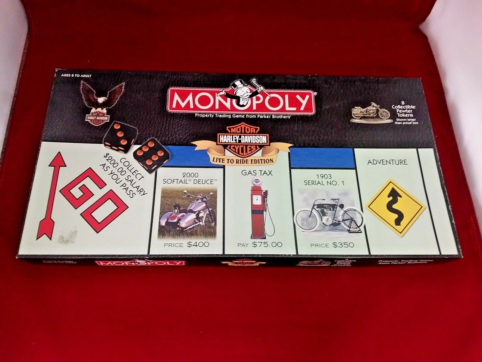 Monopoly Harley-Davidson Live To Ride Edition Board Game USAopoly 2000