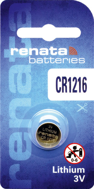 1 x Renata CR1216 Batteries, Lithium, Swiss Made, 1216