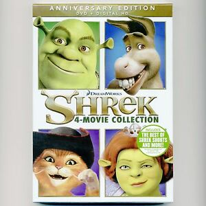 Shrek-1-2-3-Third-4-Forever-After-movie-Collection-2016-Anniversary-Ed-new-DVDs
