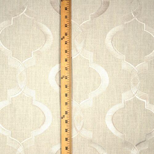 Linen Grey Geometric Curtain Fabric Swavelle Sweep