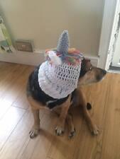 HANDMADE Crochet unicornio perro Sombrero Redecilla Para Su Perro. Pug, Sombrero Disfraz.