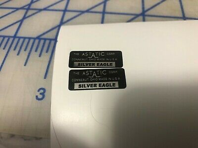 Microphone Restore Decal SILVER Eagle