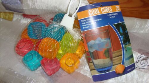 20 Party Eiswürfel wiederverwendbar--Kunststoff bunt