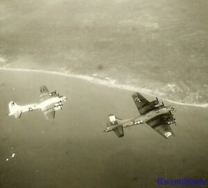 Org-Photo-Aerial-View-452nd-Bomb-Group-B-17-Bombers-Crossing-Coast-on-Mission