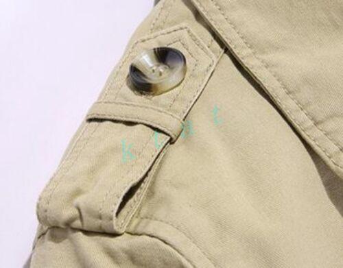 Mens Parkas Jacket Winter Trench Single Breasted Warm Liner Coat  New Med Long