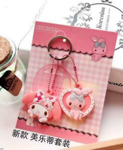 2PC-Cute-My-Melody-Key-Cap-Cover-Silicone-Keychain-Case-Keyring-Key-Chain-Gift