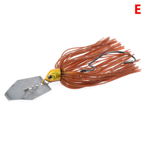 1pc 11g Chatterbait Blade Bait with Rubber Skirt buzzbait Fishing Lures TackKV